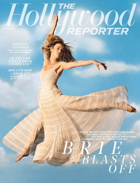 Brie Larson covers The Hollywood Reporter February 13th, 2019 by Dana Scruggs