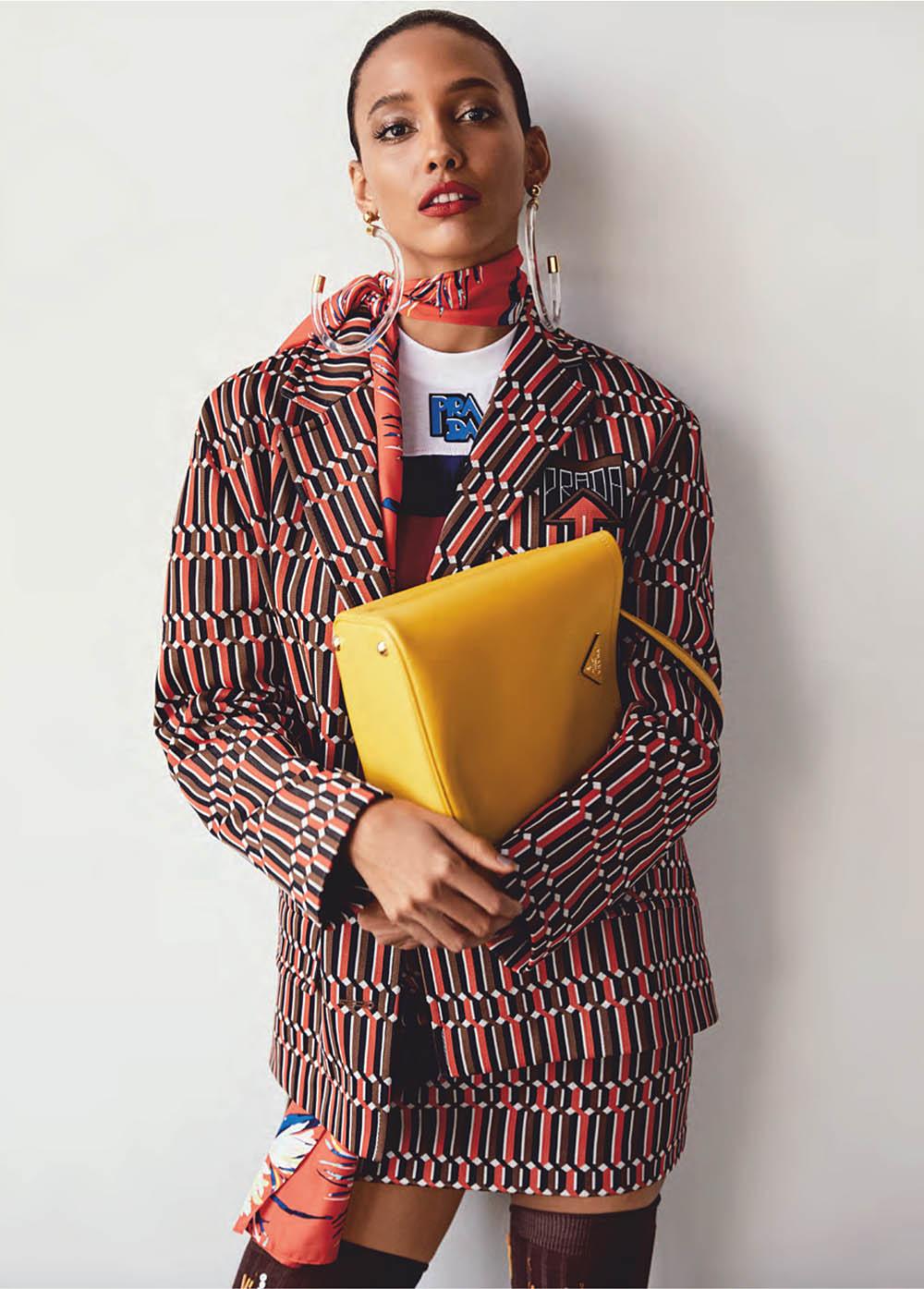 Cora Emmanuel by Owen Bruce for Elle Canada February 2019