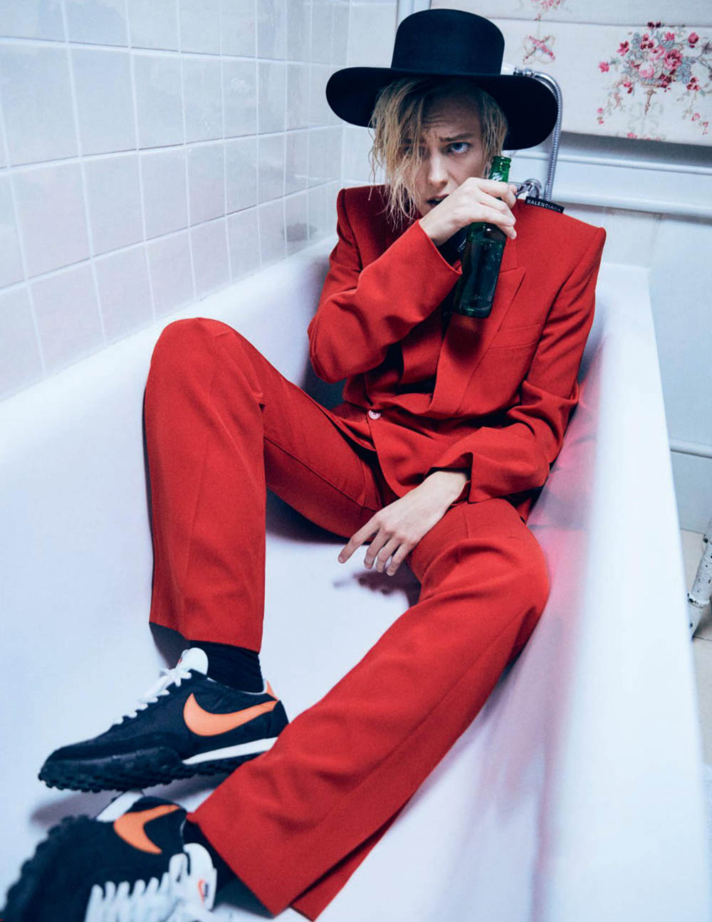 Erika Linder covers Vogue Paris February 2019 by Mikael Jansson