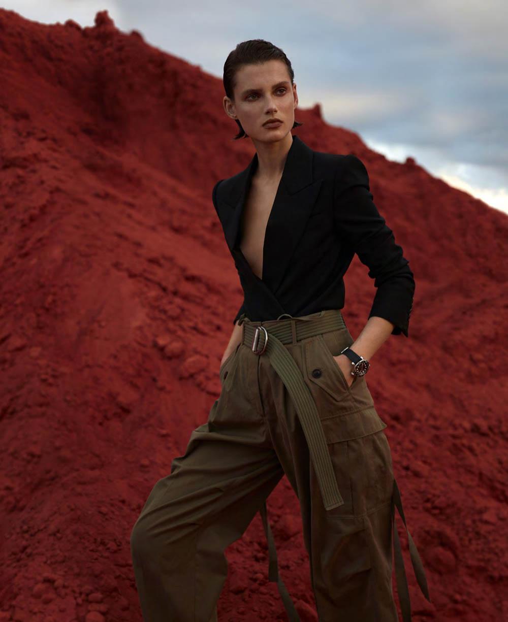 Giedre Dukauskaite by Camilla Akrans for Harper's Bazaar US March 2019
