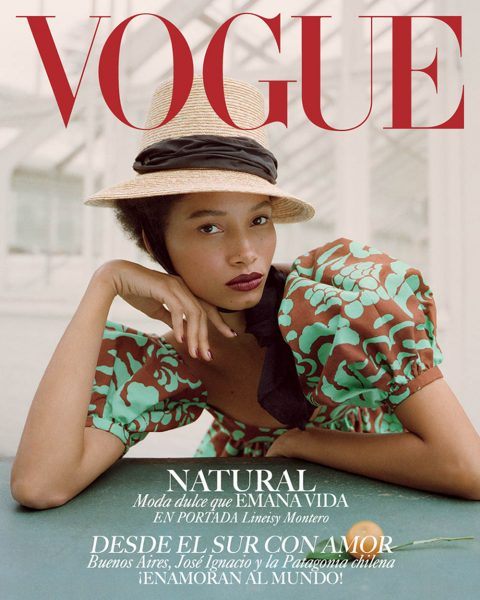 Lineisy Montero covers Vogue Latin America February 2019 by Stas Komarovski
