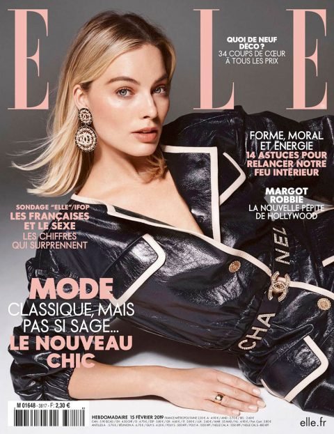 Margot Robbie covers Elle France February 15th, 2019 by Liz Collins