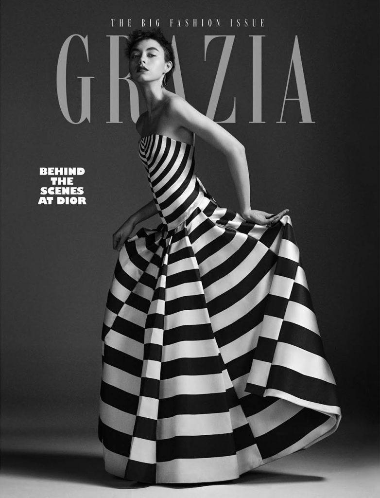 Ninouk Akkerman covers Grazia UK February 25th, 2019 by Alex Bramall