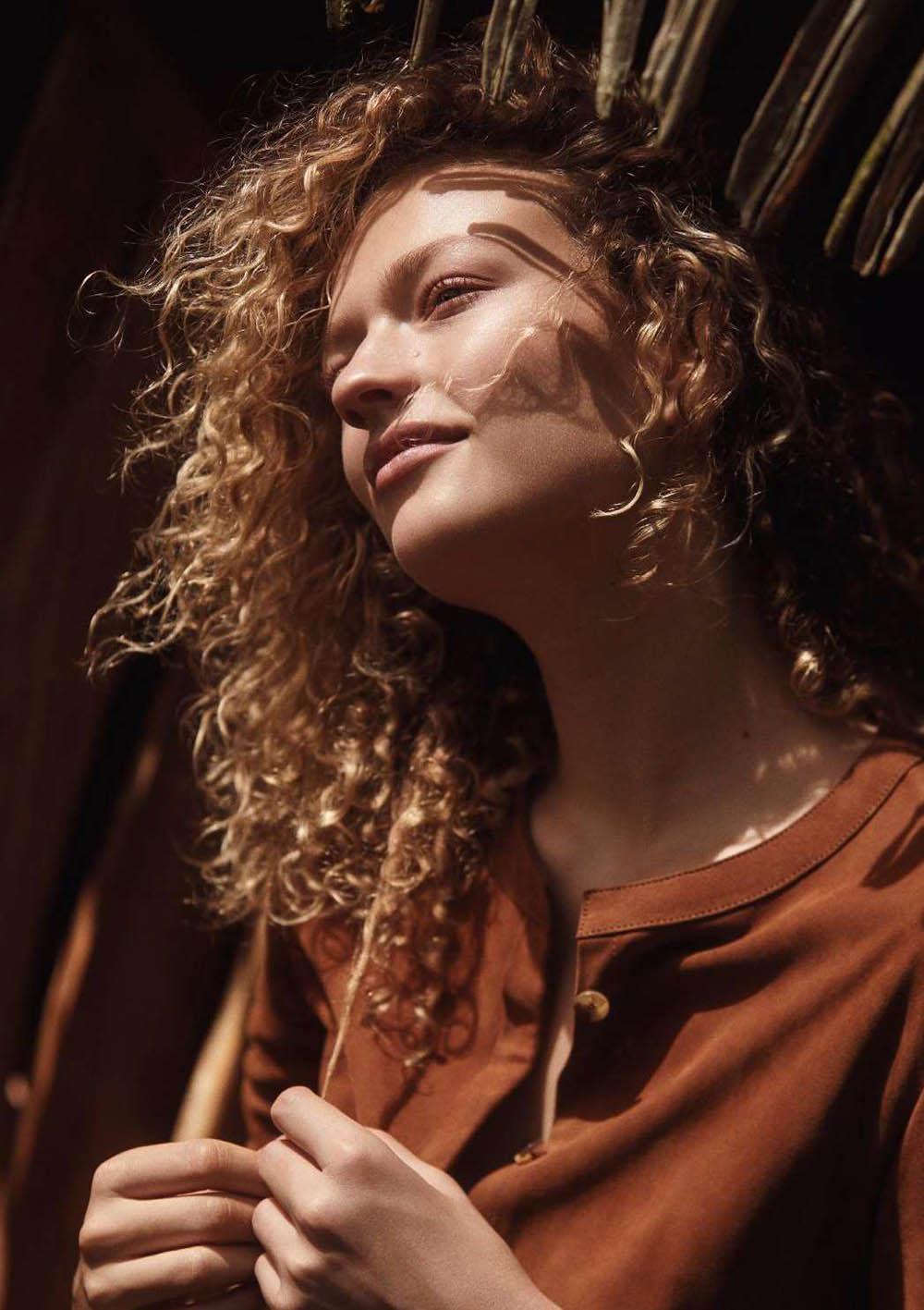 Sophia Ahrens by Adam Franzino for Elle Germany February 2019