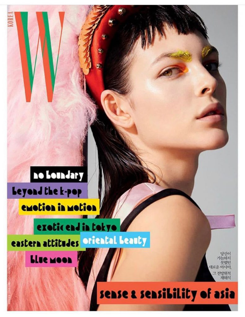Vittoria Ceretti covers W Korea February 2019 by Benjamin Lennox