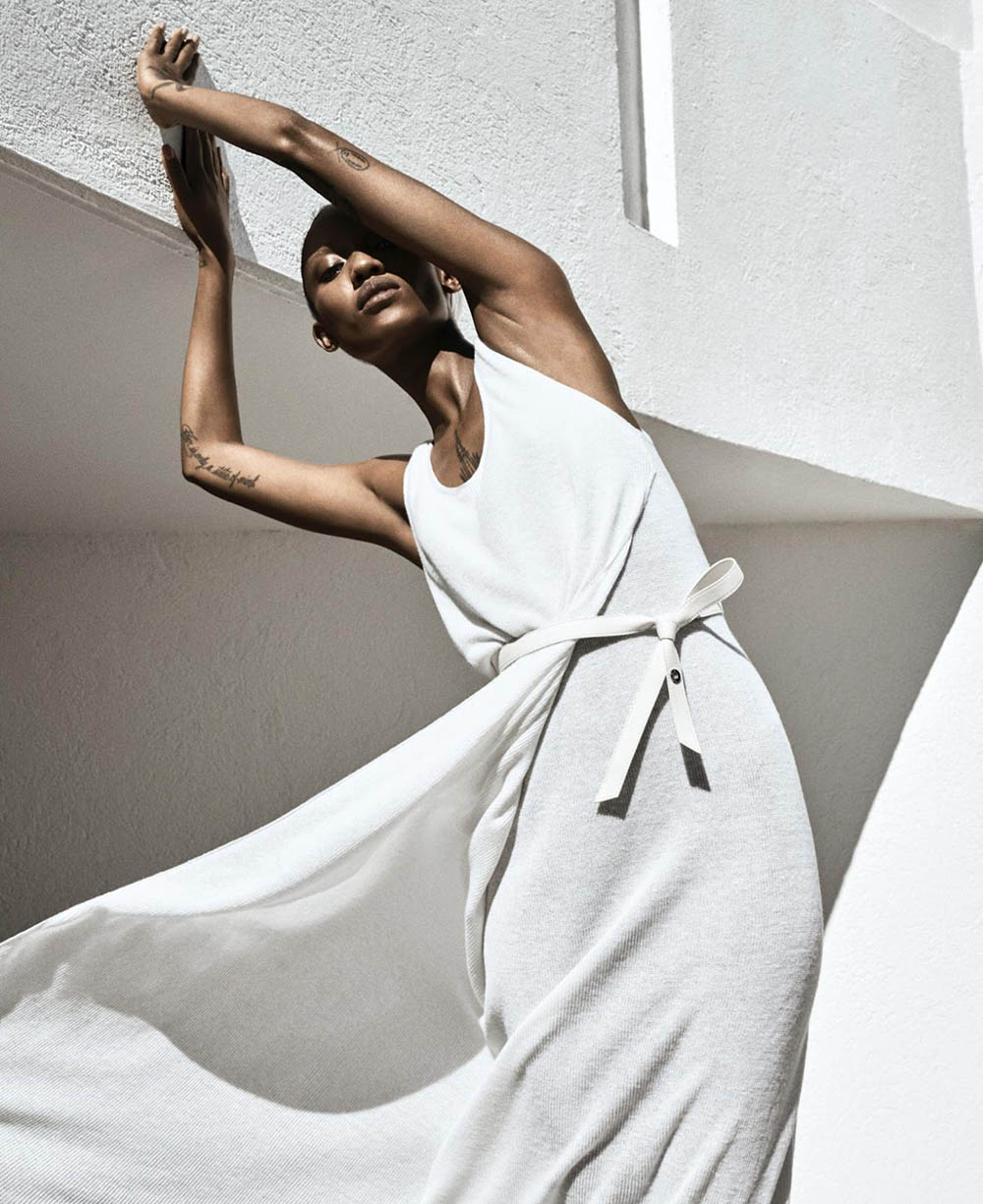 Adesuwa Aighewi by Sebastian Kim for Harper's Bazaar US April 2019