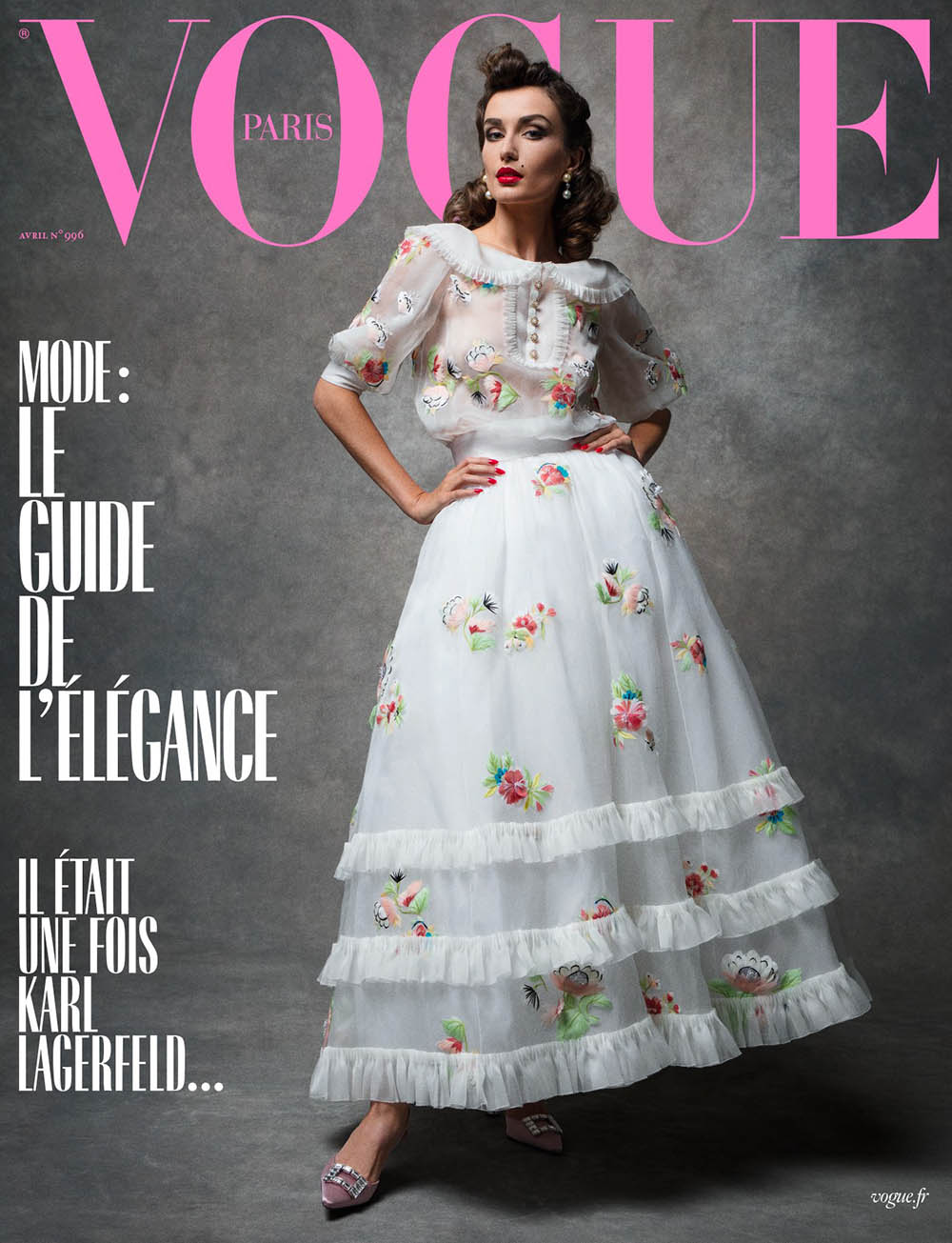 Adut Akech, Raquel Zimmermann and Andreea Diaconu cover Vogue Paris April 2019 by Inez and Vinoodh