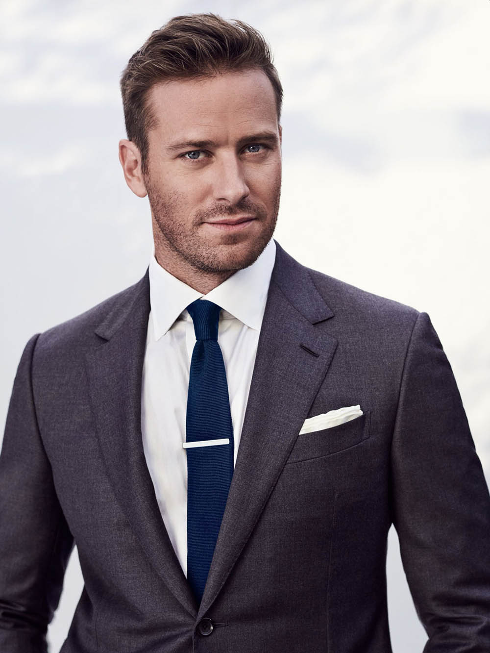 Armie Hammer covers British GQ March 2019 by Eric Ray Davidson