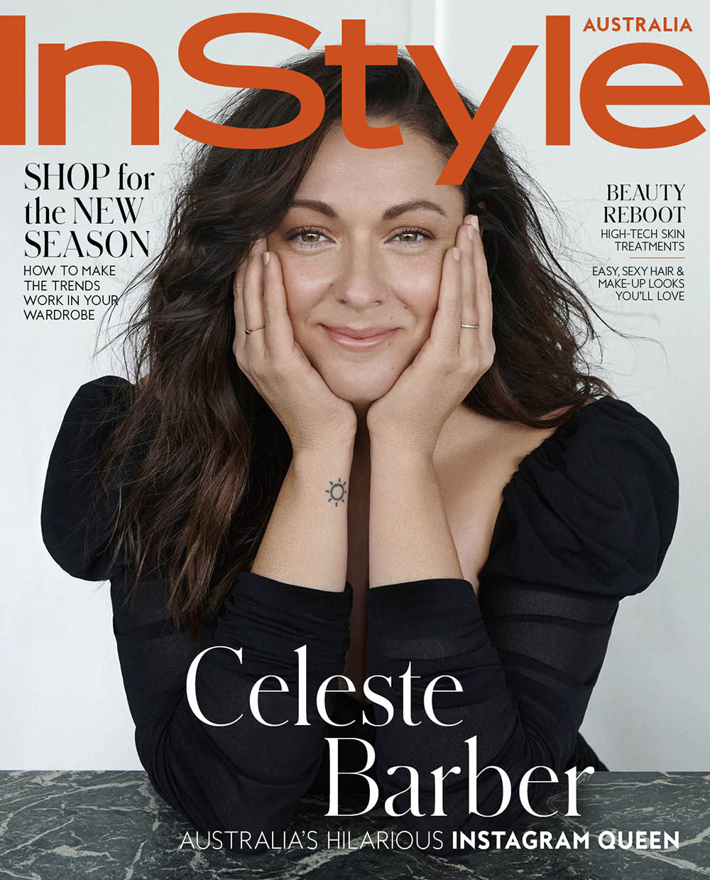 Celeste Barber covers InStyle Australia March 2019 by Huge Stewart
