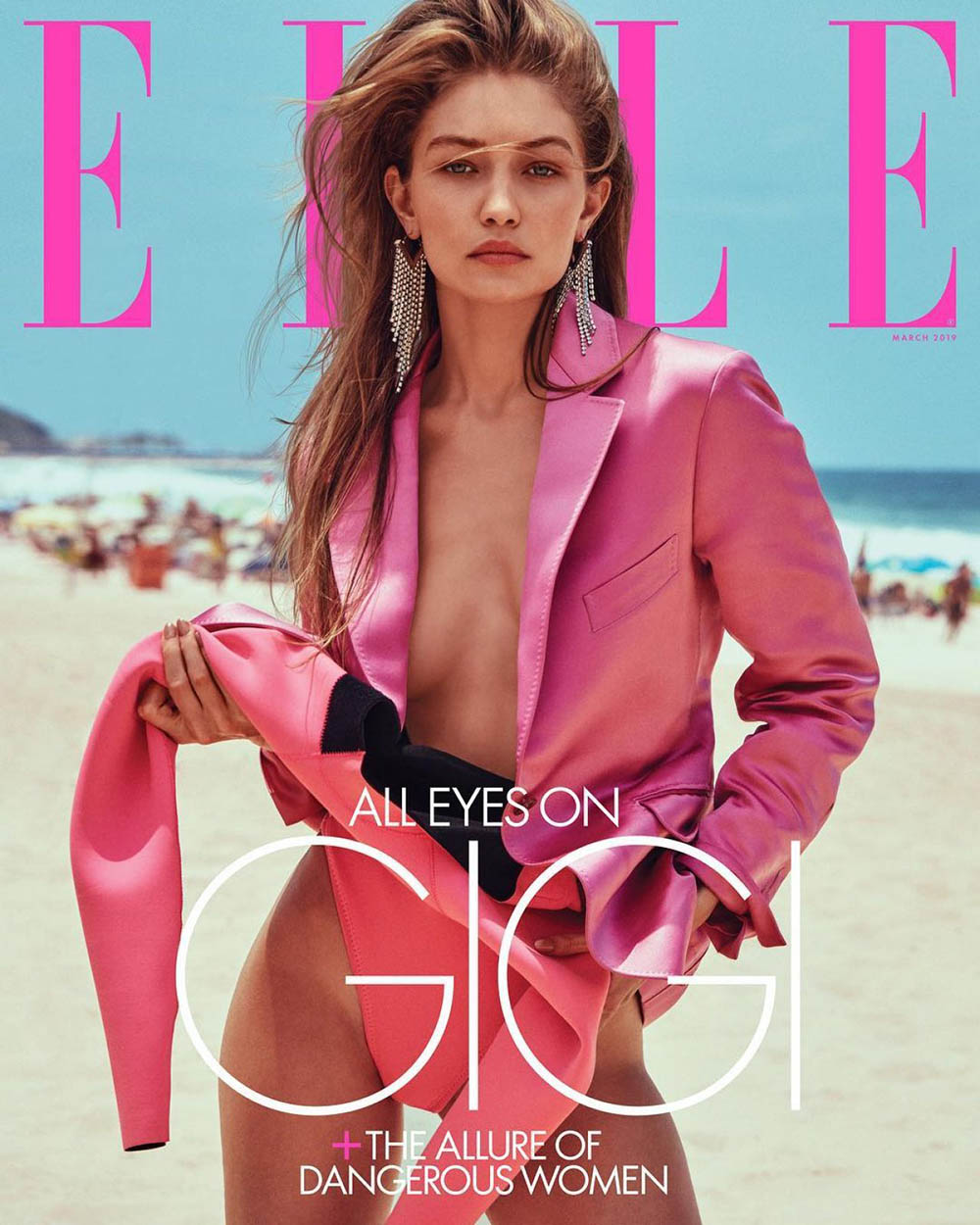 Gigi Hadid covers Elle US March 2019 by Chris Colls