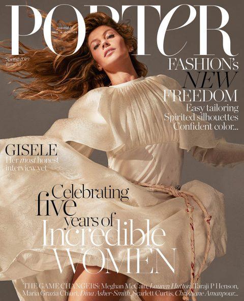Gisele Bündchen covers Porter Magazine Spring 2019 by Mario Sorrenti