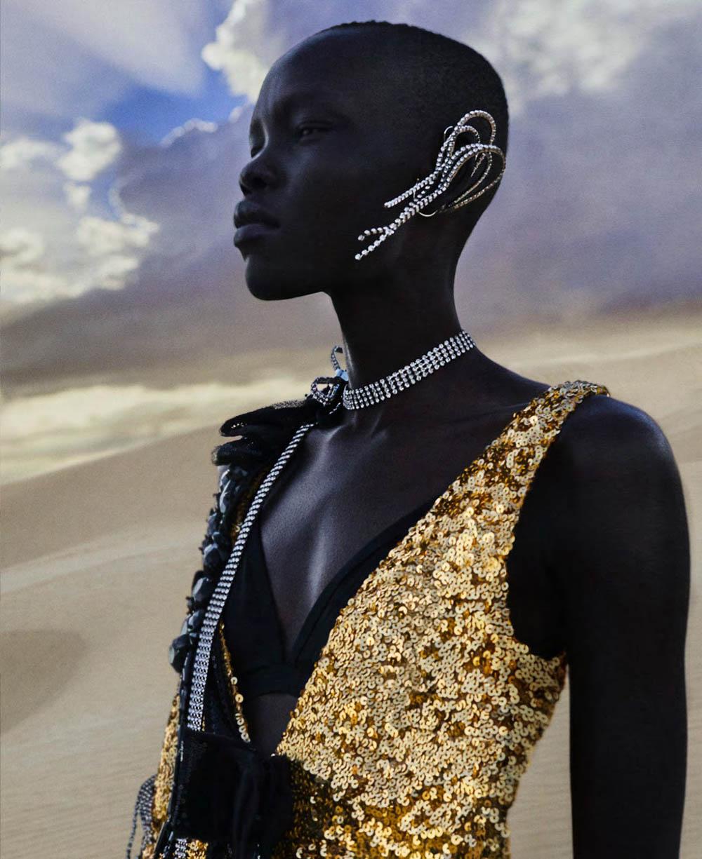 Grace Bol by Txema Yeste for Harper's Bazaar US March 2019