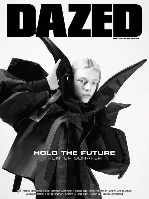 Hunter Schafer covers Dazed Magazine Spring 2019 by Mario Sorrenti