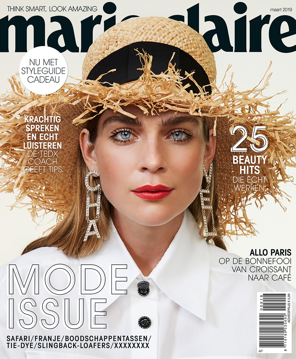 Kim Noorda covers Marie Claire Netherlands March 2019 by Katelijne Verbruggen