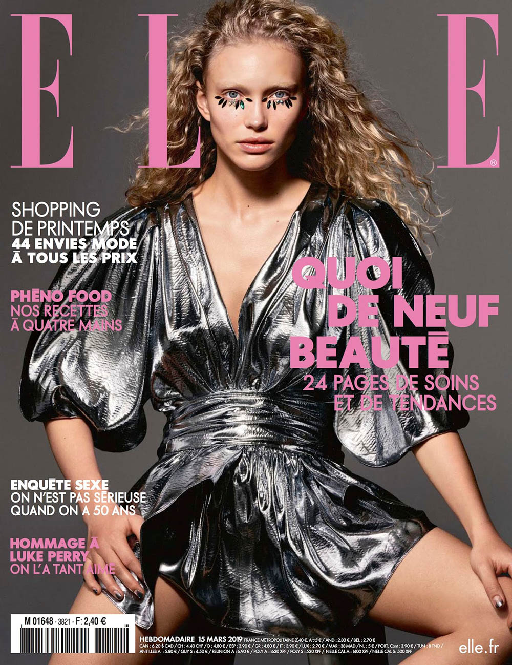 Kim van der Laan covers Elle France March 15th, 2019 by Liz Collins