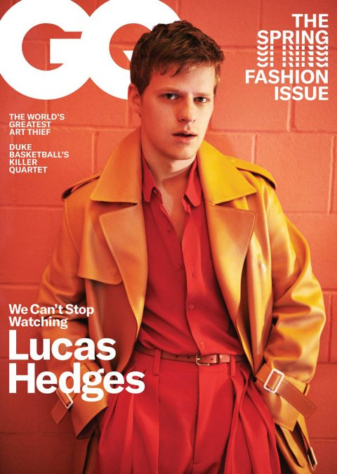 Lucas Hedges covers GQ USA March 2019 by Ryan McGinley