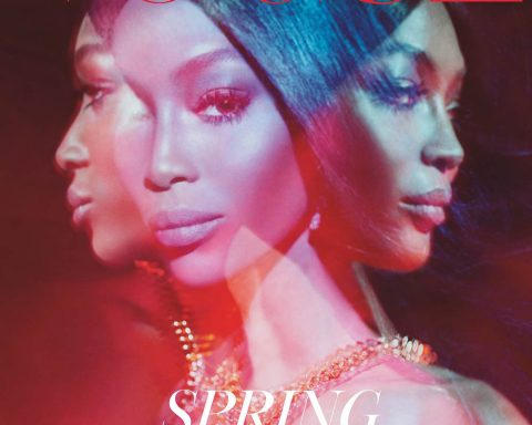 Naomi Campbell covers British Vogue March 2019 by Steven Meisel