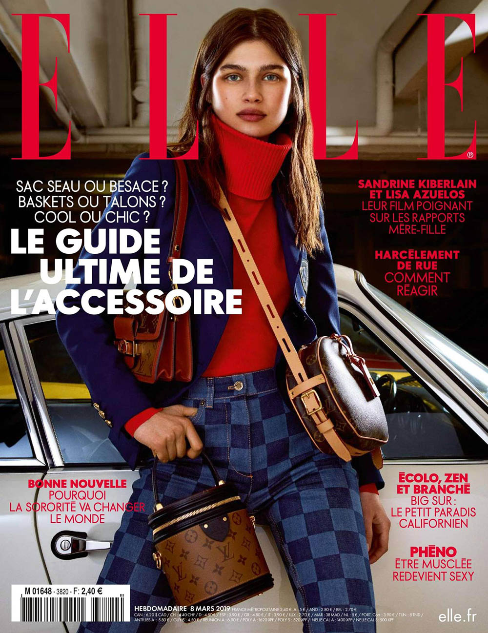 Nastya Zakharova covers Elle France March 8th, 2019 by Nik Hartley