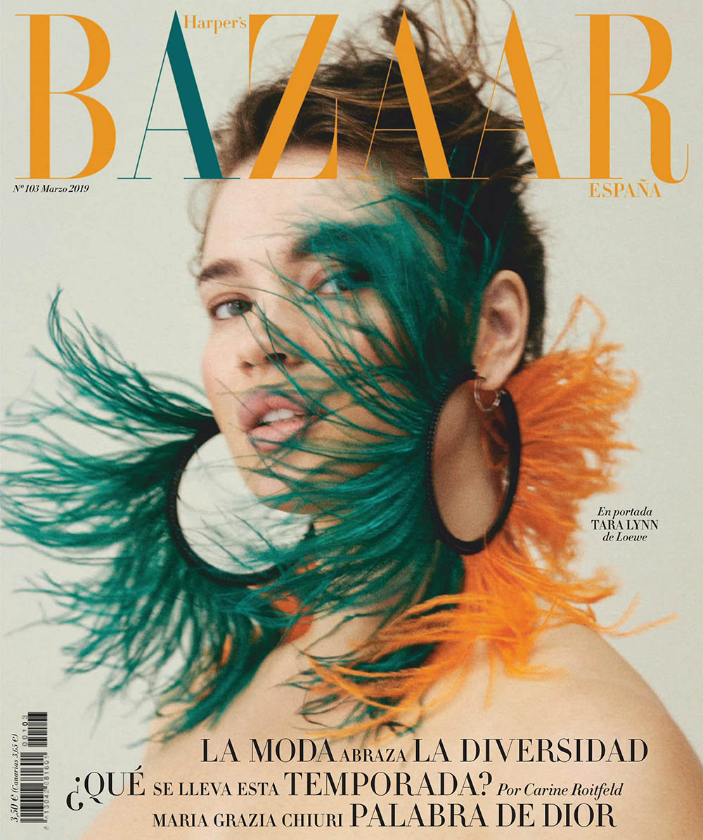 Tara Lynn covers Harper's Bazaar Spain March 2019 by Van Mossevelde + N