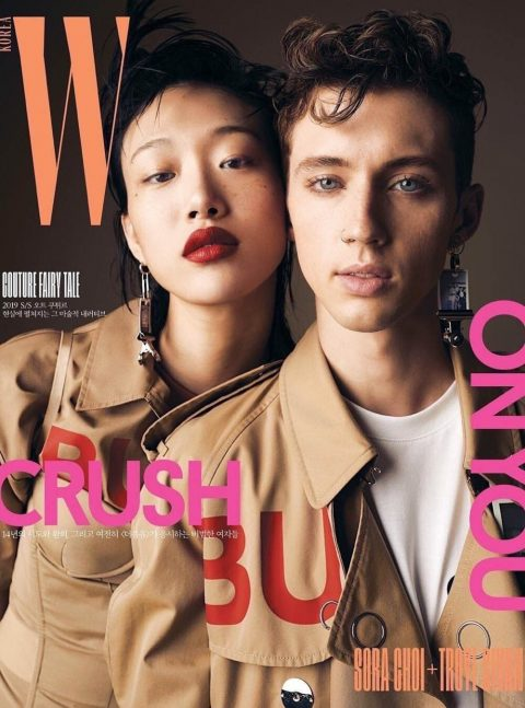 Troye Sivan and Sora Choi cover W Korea March 2019 by Billy Kidd
