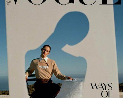 Vivien Solari covers Vogue Ukraine March 2019 by Jo Metson Scott
