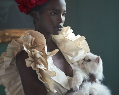 Aamito Lagum by Richard Phibbs for Harper's Bazaar UK April 2019