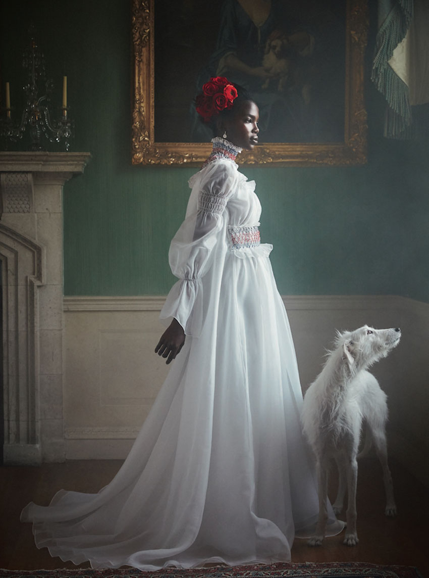 Aamito Lagum by Richard Phibbs for Harper's Bazaar UK April 2019