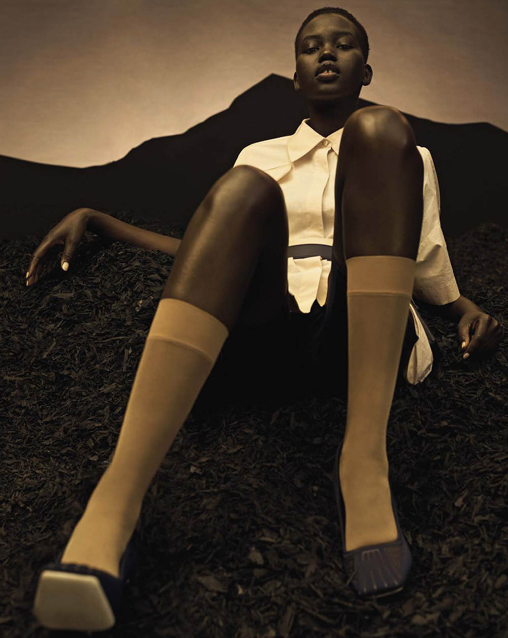 Adut Akech by Josh Olins for Vogue Italia April 2019