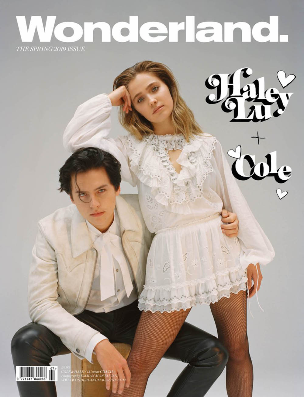 Cole Sprouse and Haley Lu Richardson cover Wonderland Magazine Spring 2019 by Emma Montalvan