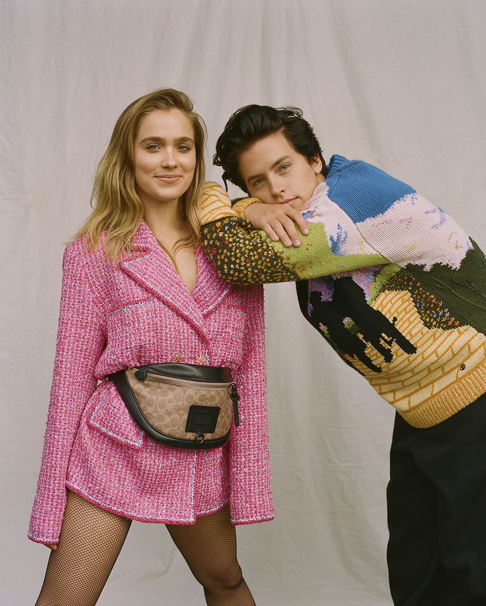 Cole Sprouse and Haley Lu Richardson cover Wonderland Magazine Spring 2019 by Emma Montalvan