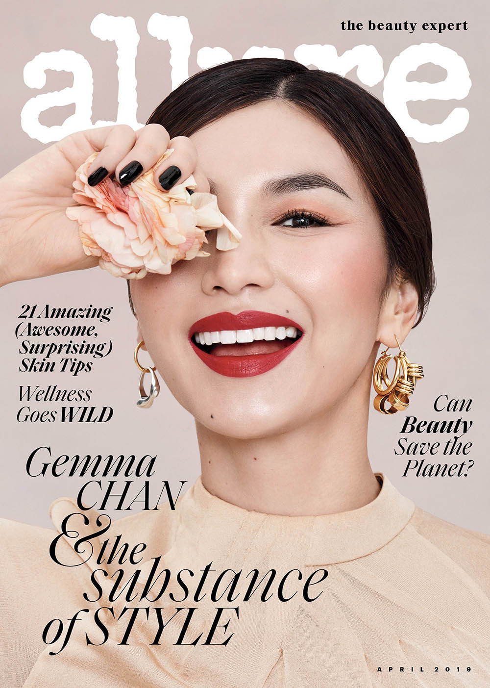 Gemma Chan covers Allure US April 2019 by Paola Kudacki