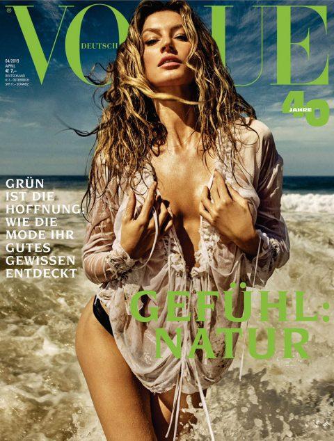 Gisele Bündchen covers Vogue Germany April 2019 by Luigi & Iango