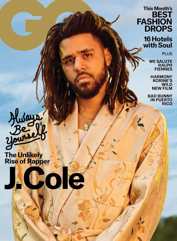 J. Cole covers GQ USA April 2019 by Awol Erizku