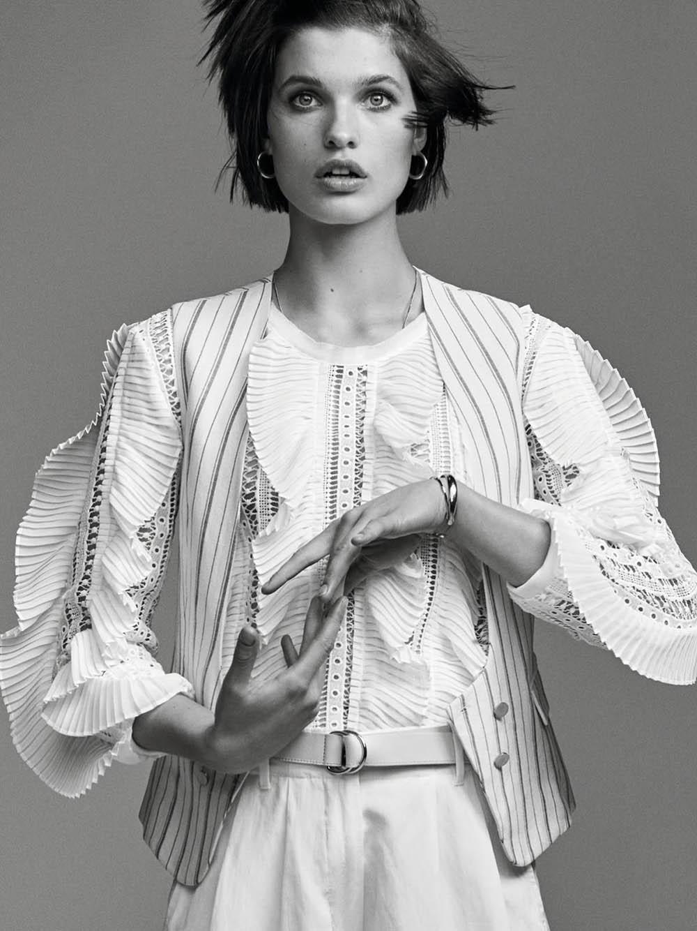 Julia van Os by Nathaniel Goldberg for Vogue Paris April 2019