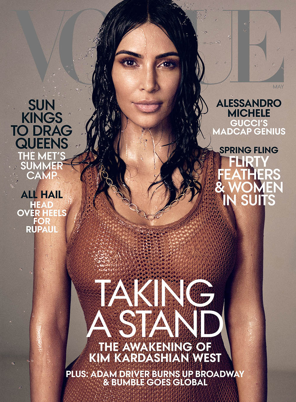 Kim Kardashian West covers Vogue US May 2019 by Mikael Jansson