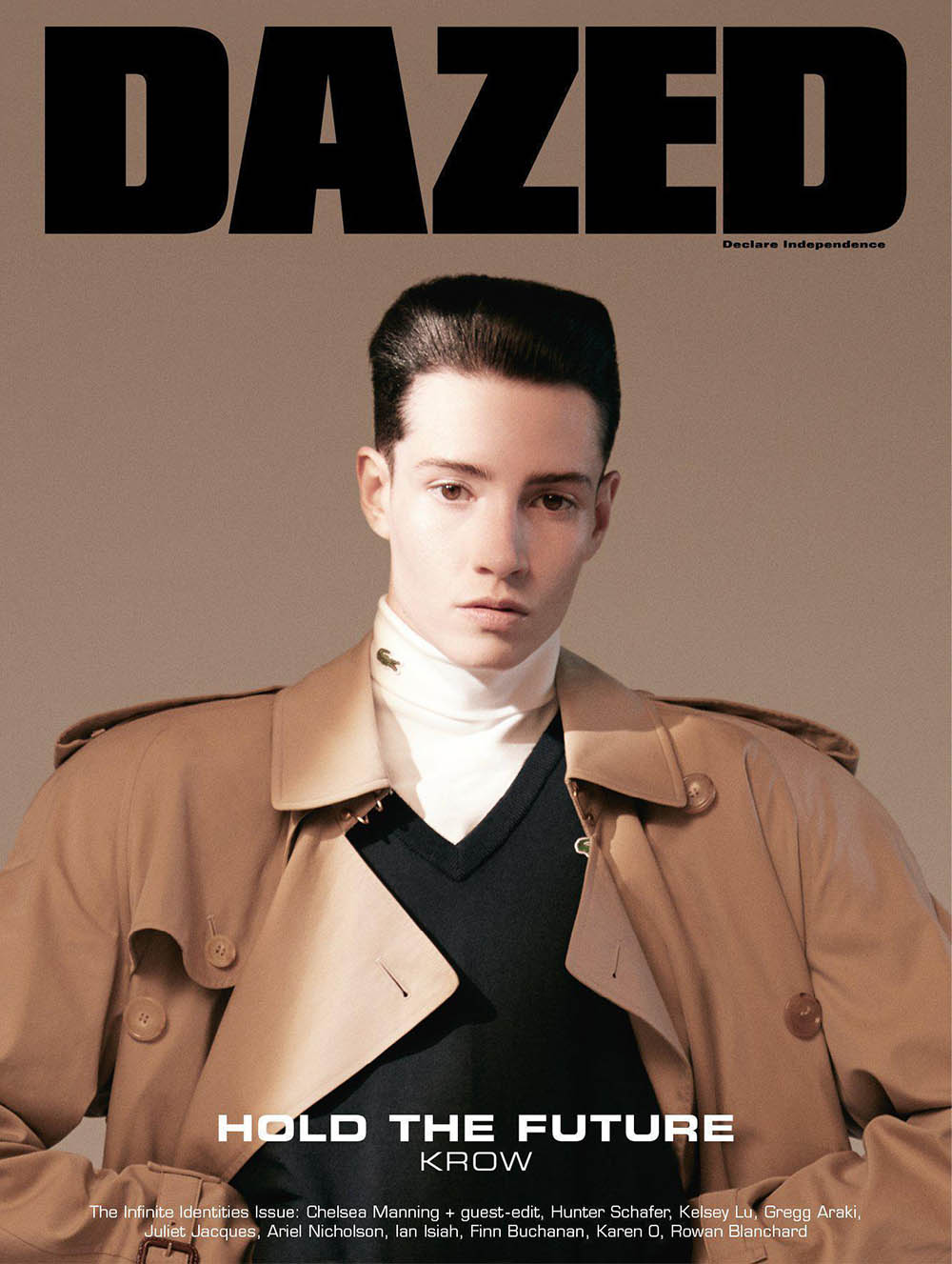 Krow Kian covers Dazed Magazine Spring 2019 by Sean and Seng