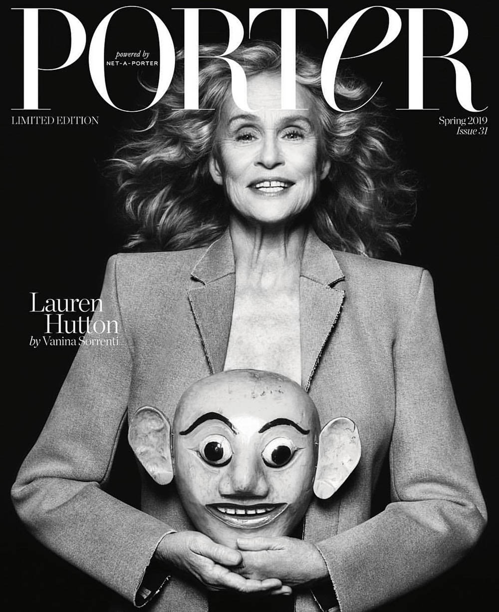 Lauren Hutton covers Porter Magazine Spring 2019 by Vanina Sorrenti