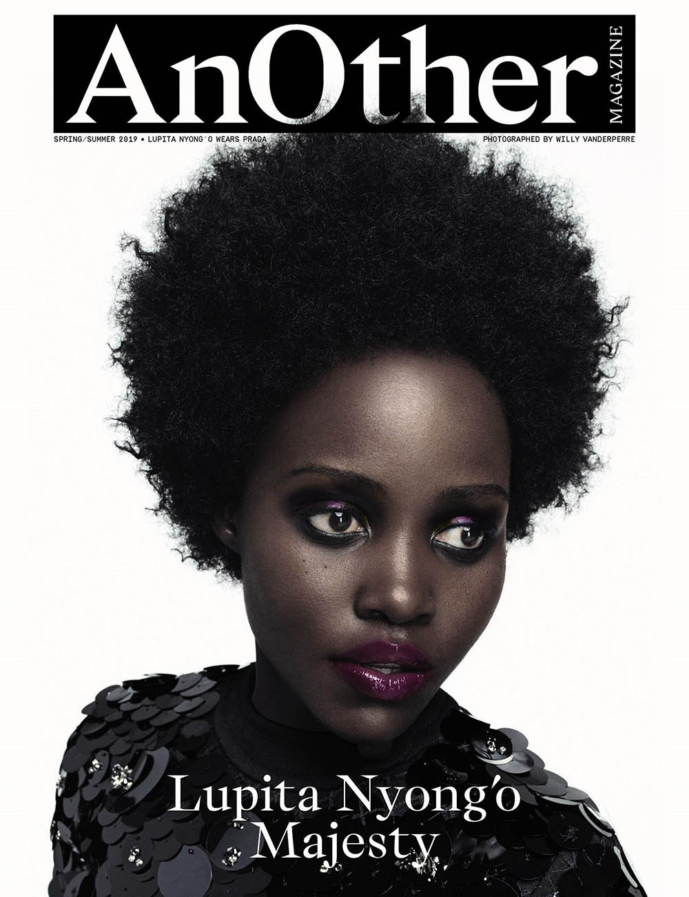 Lupita Nyong'o covers AnOther Magazine Spring Summer 2019 by Willy Vanderperre