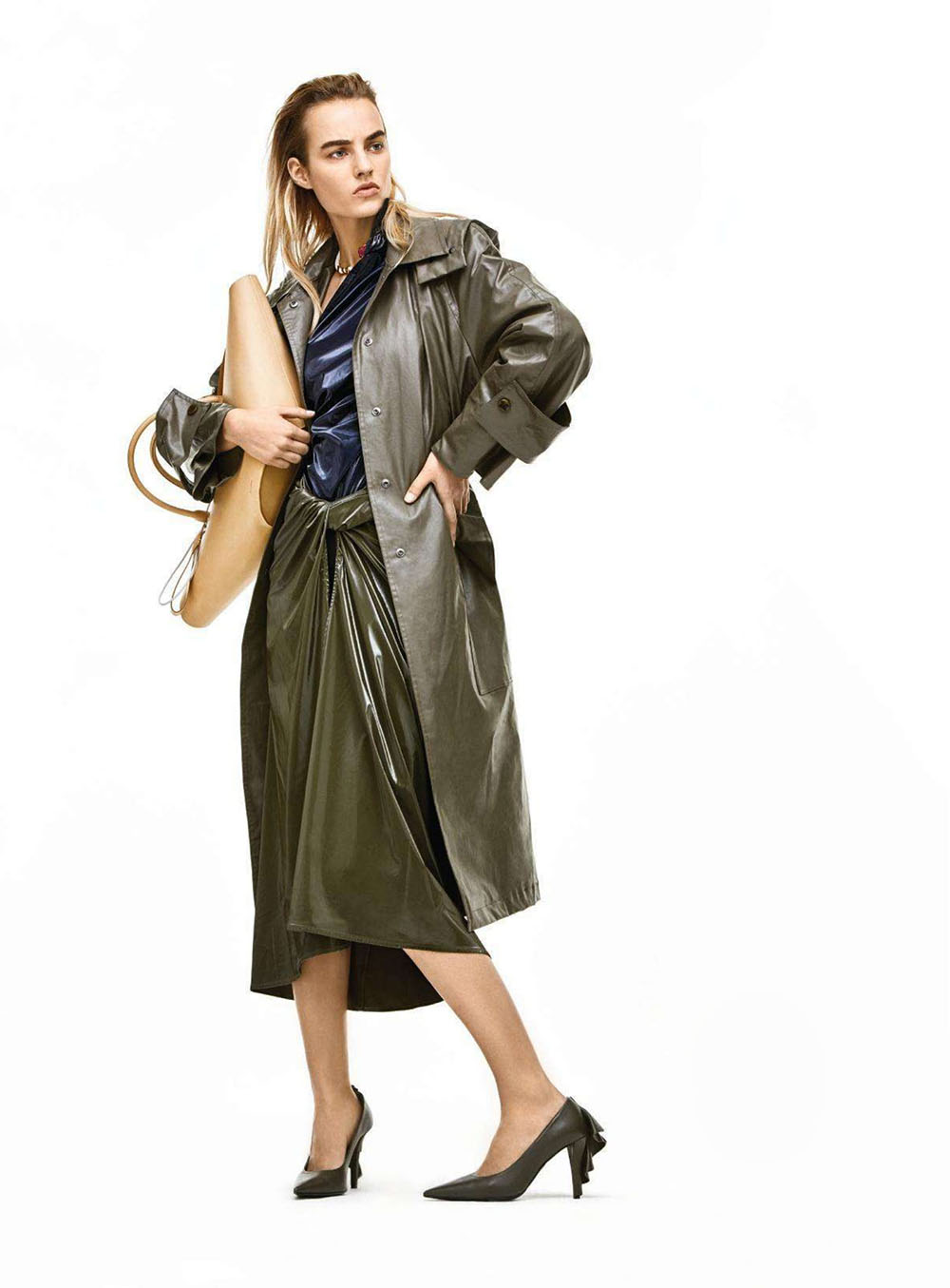 Maartje Verhoef by Johnny Kangasniemi for Harper's Bazaar Germany April 2019