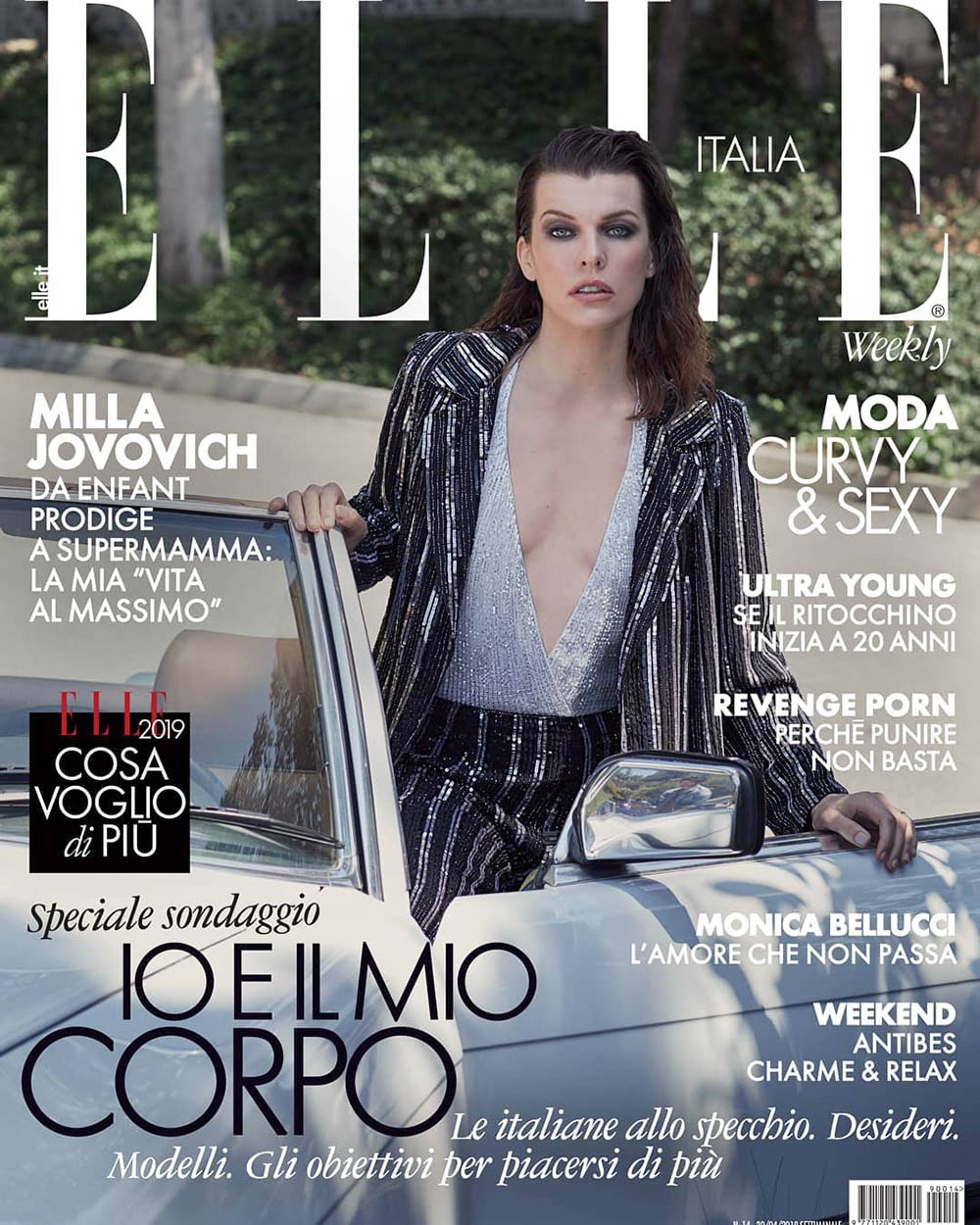 Milla Jovovich covers Elle Italia April 12th, 2019 by Laura Sciacovelli