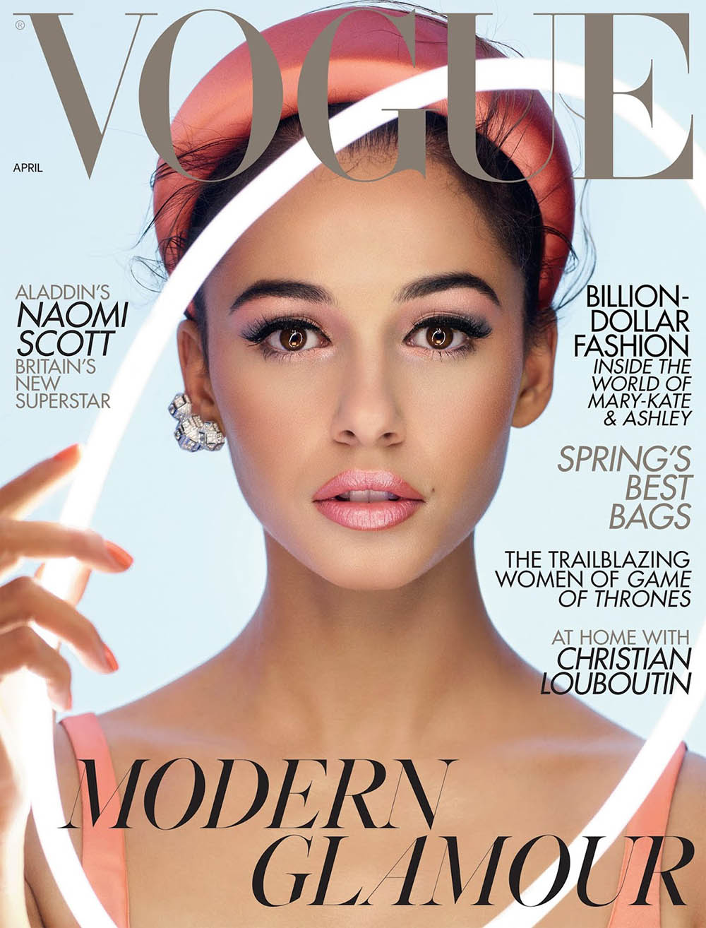 Naomi Scott covers British Vogue April 2019 by Nick Knight