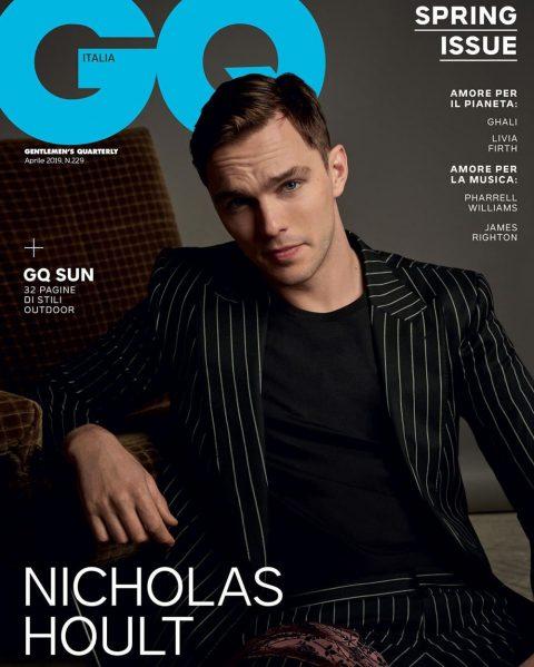 Nicholas Hoult covers GQ Italia April 2019 by Michelangelo di Battista