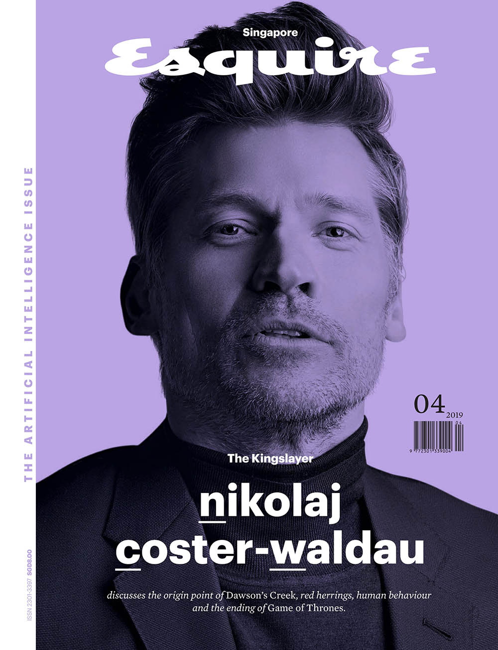 Nikolaj Coster-Waldau covers Esquire Singapore April 2019 by Lenne Chai