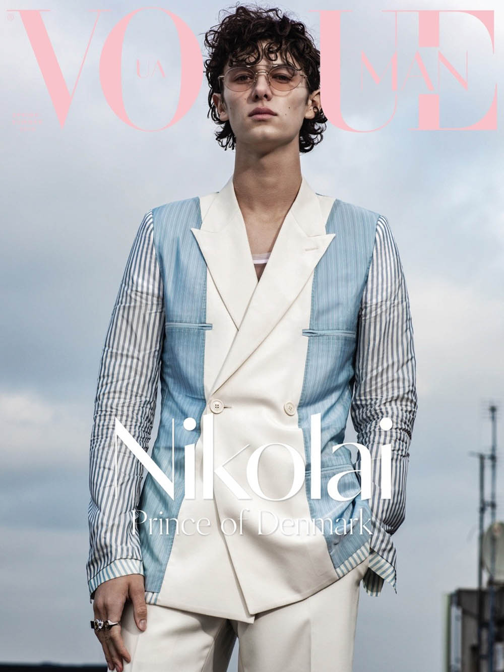 Prince Nikolai of Denmark covers Vogue Ukraine Man Spring Summer 2019 by Marco van Rijt