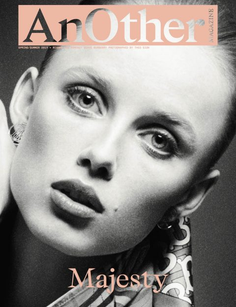 Rianne van Rompaey covers AnOther Magazine Spring Summer 2019 by Theo Sion