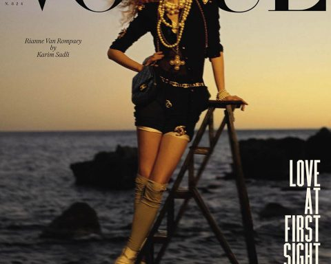 Rianne van Rompaey covers Vogue Italia April 2019 by Karim Sadli