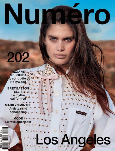 Sara Sampaio covers Numéro April 2019 by Hugh Lippe