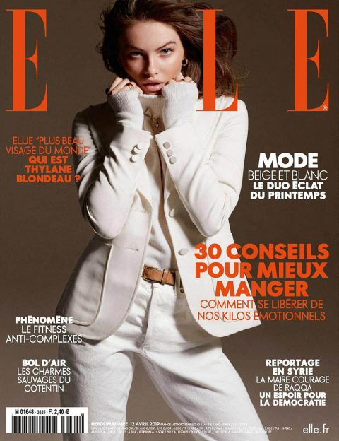 Thylane Blondeau covers Elle France April 12th, 2019 by Philip Gay