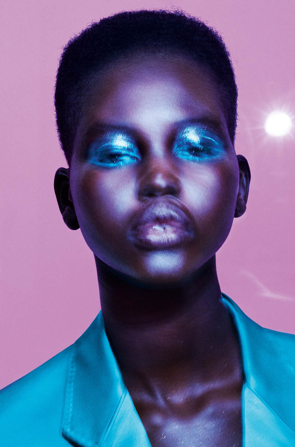 Adut Akech covers Allure US May 2019 by Daniel Jackson