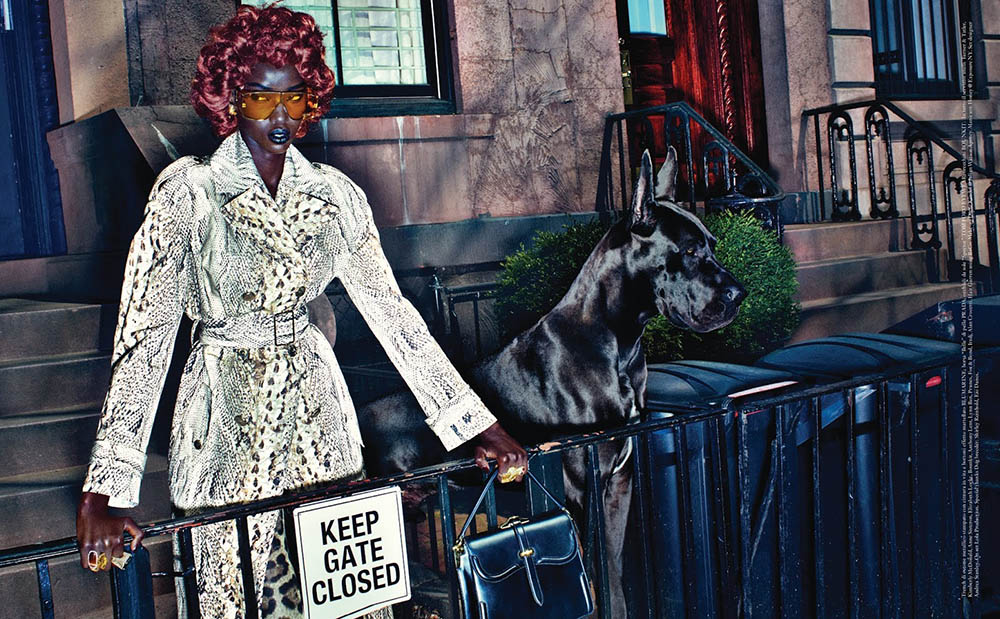 Anok Yai covers Vogue Italia May 2019 by Steven Klein